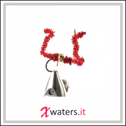 Fly Fishing - Chewing Gum Worm Bead Core Red