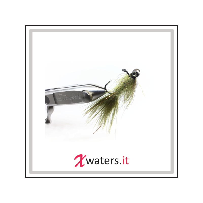 XWaters Polifemo Minnows Golden Olive Barbless #6